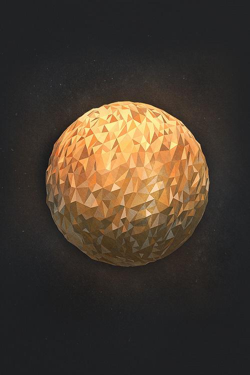 Venus #planet #venus #poly #low #3d