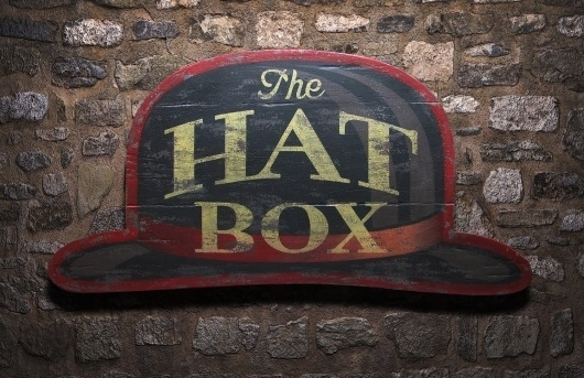 The+Hat+Box.jpg 1500×971 pixels #lettering #sign #done #type #hand