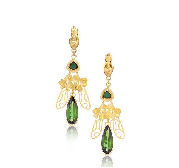 PEACOCK CHANDELIERS #designer #earrings #solid #jewelry #lux #gold #fashion #luxury
