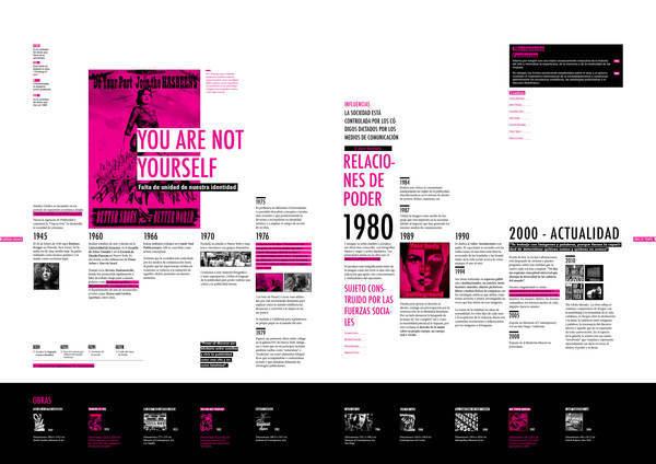 Editorial Bárbara Kruger on Behance #timeline #editorial #typography