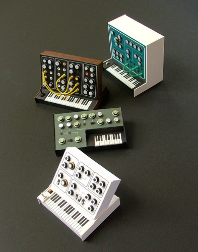 Pocket Synths #miniatures #synth #craft #art #paper