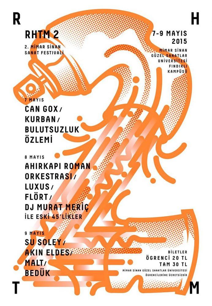 Poster for RHTM2 Spring Festival 2015, Mimar Sinan Fine Arts University