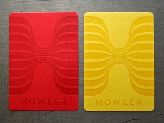 Howler | Lovely Stationery #card #business