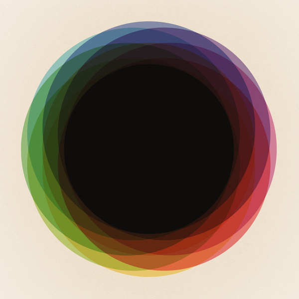Fig. 039 Circles Art Print #geometry #color #composition #circles #shapes #maps #of #imaginary #palces