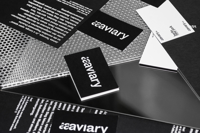 aaaviary, concert series's identity & logotype. Classical music meet techno. Design by Laura Knoops