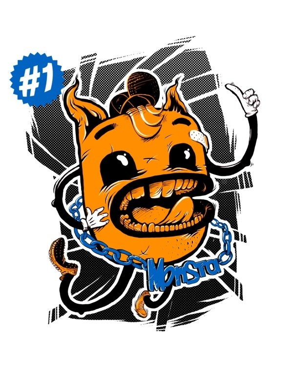 illustration on the Behance Network #monsta #hnd #print #shirt #drawn #tee #monster