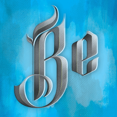 betype:Blackletter (by Kyle J. Letendre) #blackletter #print #screen #type #tone #half