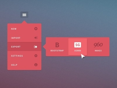 Ui #list #popup #red #ui