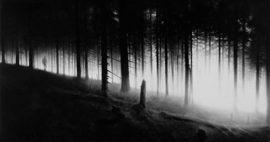 ROBERT LONGO - Works - THE MYSTERIES, 2009 - Untitled (Et In Arcadia Ego) #blackwhite #white #robert #longo #black #and #mysteries #forest