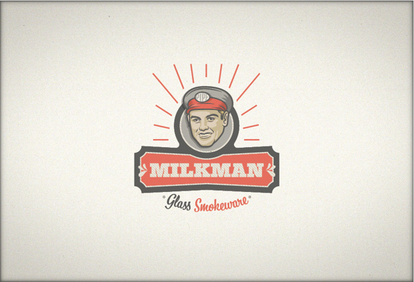 Milkman #logotype #red #smokeware #food #milkman #milk