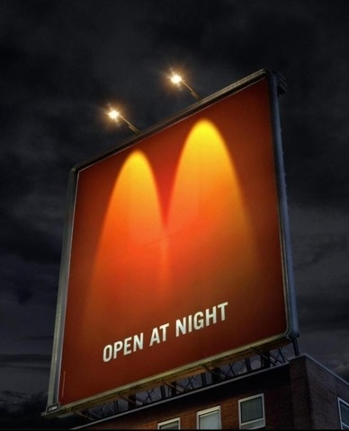 FFFFOUND! | 20 Creative McDonalds Ads « From up North | Design inspiration & news #night #mcdonalds #advertising