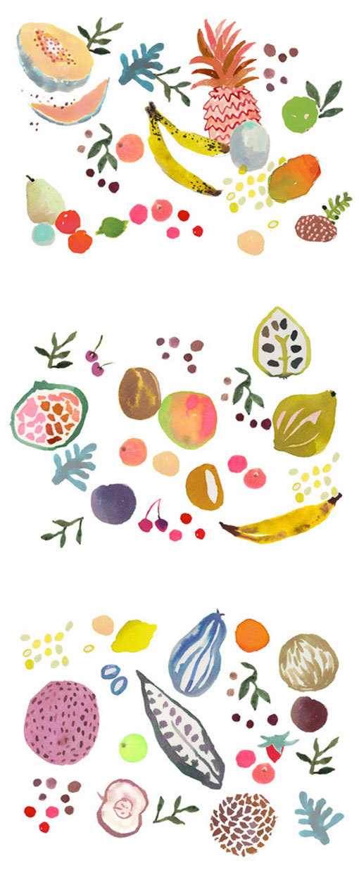 happymenocal_papergoods_03 #illustration #fruit