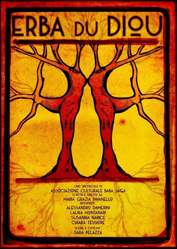 """Filippo Fanciotti graphic design for """"Erba du Diou"""" theater play"""