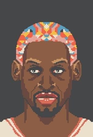 NBA Off-Season #illustration #basketball #art #pixel