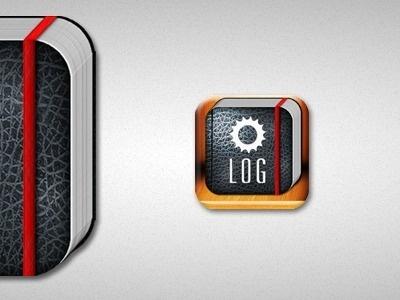 Dribbble - Gear Log by Stephen Moorehead #log #icon #book #gear #iphone #illustration #app