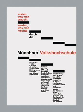 Rolf Müller — Münchner Volkshochschule (1978) #minimal #poster