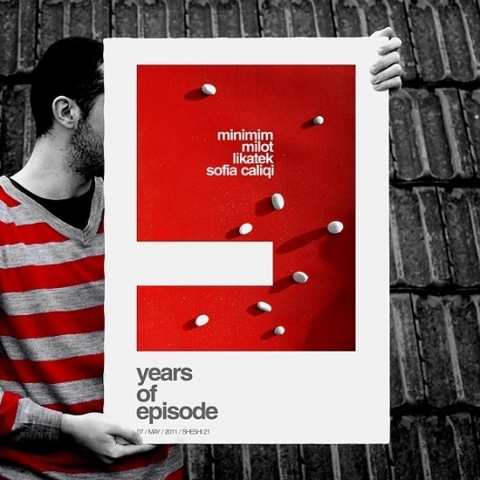 9 YEARS OF EPISODE / EVENT POSTER on the Behance Network #kosovo #9 #of #years #projectgraphics #poster #episode