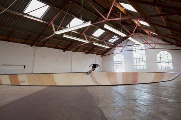 It's Nice That : Superb work from Benedict Radcliffe as he builds gorgeous skate/performance bowl #plywood #skate