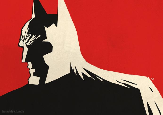 Batman Noir: Marv meets cowl #illustration #noir #batman
