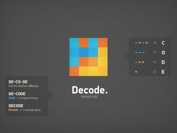 Decode logotype by Dennis Collaris #logotype #design #graphic #color #code #morse #identity