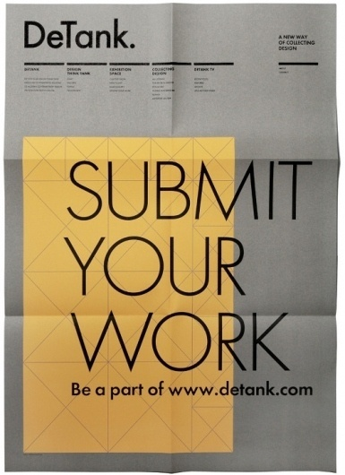 Detank Poster | Gridness #grid #print #design #poster