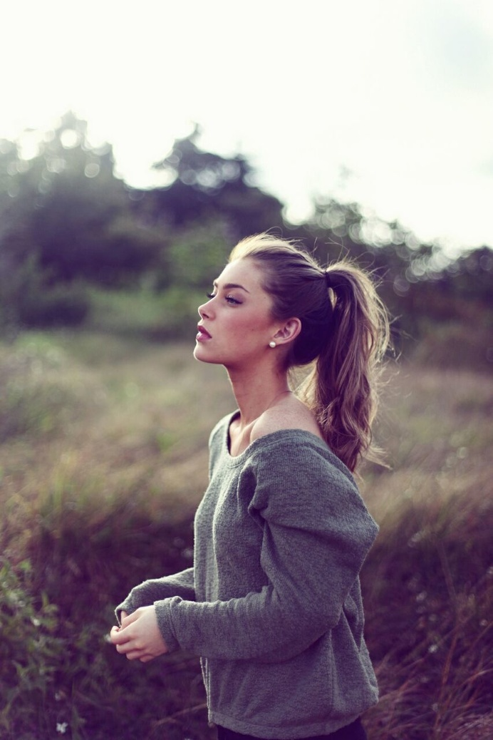 Image result for ponytail for medium length hair