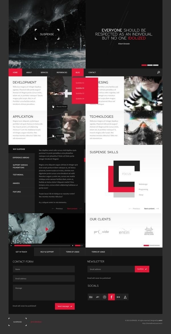 SUSPENSE | template on Behance #grid #website #responsive