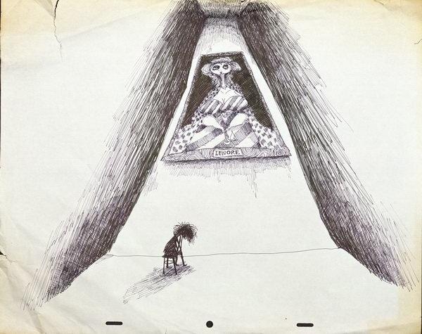 Tim Burton #white #tim #level #next #black #illustration #and #vincent #burton