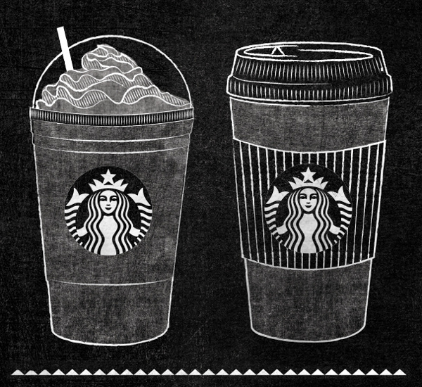 Starbucks Roast Guide Mural by Jaymie McAmmond #board #chalk #typography