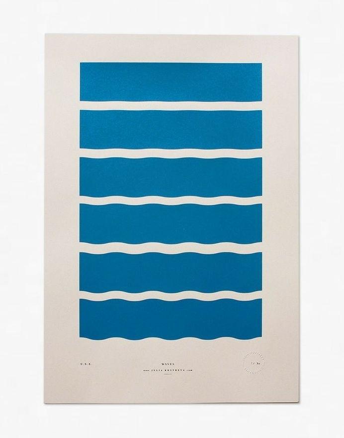 Waves - Limited Edition Screenprint / Julia Kostreva #geometry