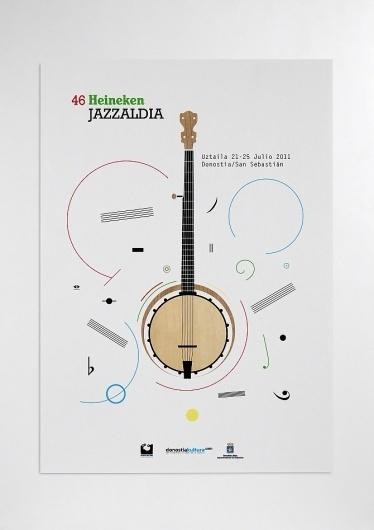 Heineken Jazzaldia - flipando en PANTONE #ataz #festival #jazz #andrea #poster #music #heineken