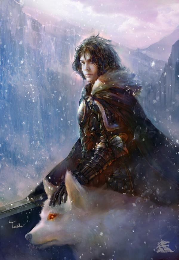 jon snow - Digital Paintings by TeiIku #digital #teiiku #paintings