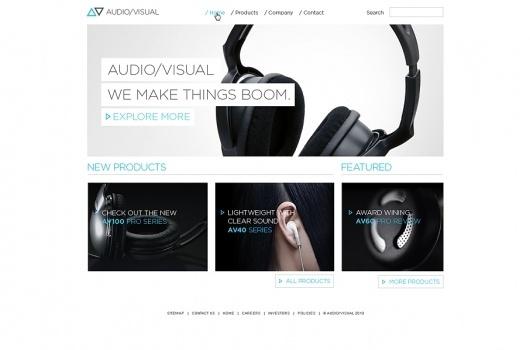 Audio/Visual digital identity on Web Design Served #fddbvdfbb