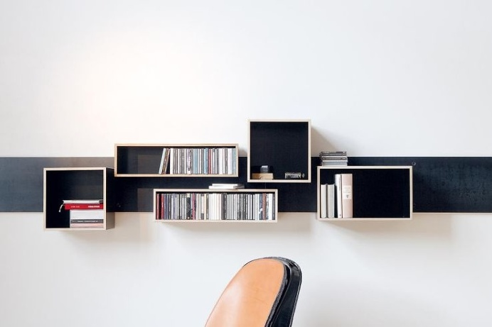 Make #home rearranging fun and easy with Magnetique, #magnetic shiftable #shelves!