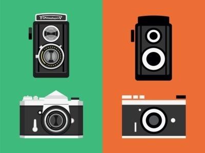 Cameras #illustration #cameras #simplification