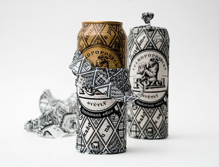 Velkopopovicky Kozel Beer Can Packaging #packaging #beer