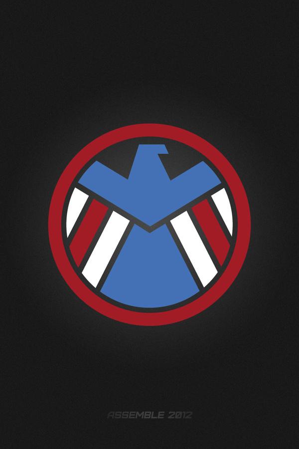 The Avengers #design #captain #avengers #minimal #poster #america