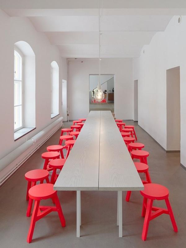 35 Incredible Neon Interior Designs #colored #coral #stools