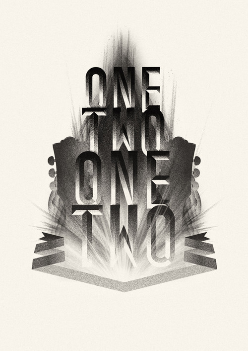 OneTwoOneTwo #music #lettering #bevelled