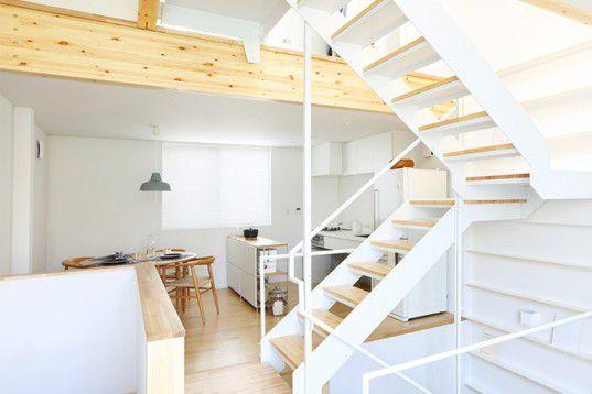 MUJI, MUJI house, three-storey home, Tokyo, prefab home, wooden facade, MUJI furnishing, open plan design, minimalistic interiors, daylit interiors