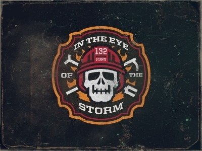 Dribbble - Firehouse Logo by Matt Kauzlarich #firehouse #illustration #fireman #skull
