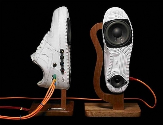 Say Hello To The Nike Air Force 1 Sneaker Speakers From Alex Nash - Geeky Gadgets #air #force #nike #one #speakers