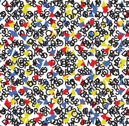 ambass_pattern_cross.jpg 670×659 pixels #pattern #branding #avant #triangles #garde #ambassadors #band #brooklyn