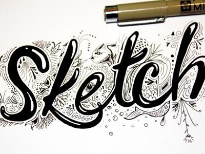 Dribbble - Sketch by Jim Ward #lettering