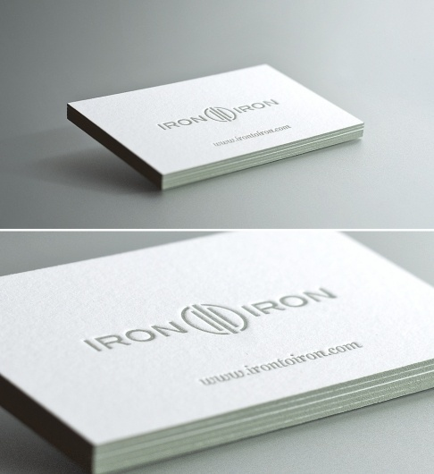 Dribbble - ITI_Cards_Fullsize.jpg by Kevin Richardson #business #card #print #design #graphic #letterpress