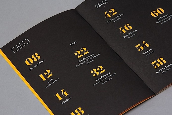 table graphic design inspiration furniture editorial design inspiration 99u quarterly mag no4 editorial design toc best table contents inspiration images on
