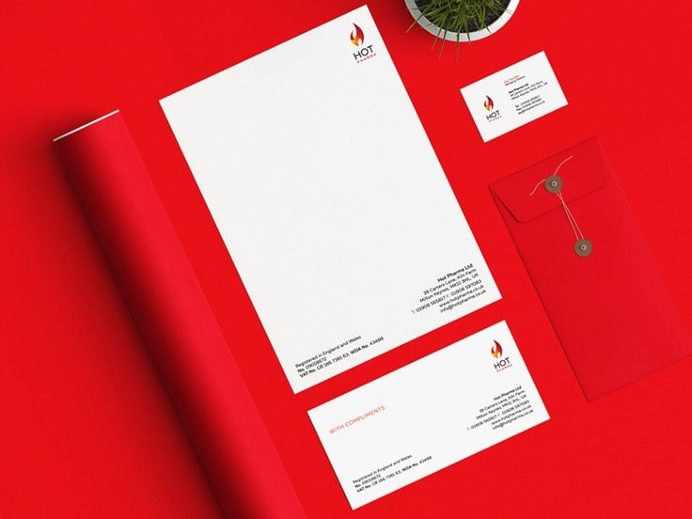 #hot#red#flame#pharma#stationery#branding#medical