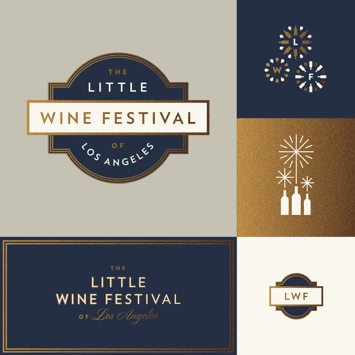 Little wine festival of los angeles j fletcher dribbble #jay #branding #fletcher #foil