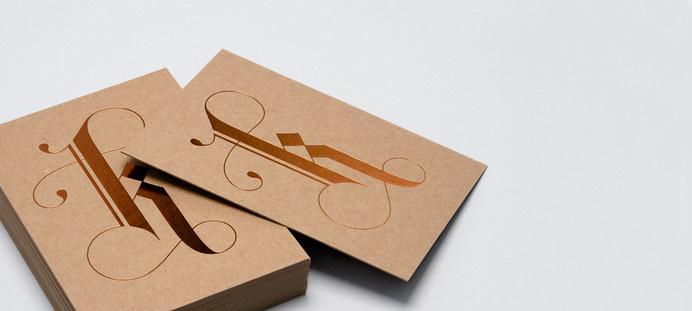 Kaldor K Card #stamp #card #letterpress #bronze #letter #kaldor #type #foil
