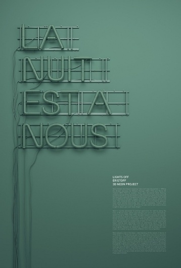 3D Neon / Lights Off on the Behance Network #neon #light #typography
